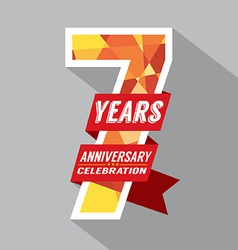 7th years anniversary celebration design vector