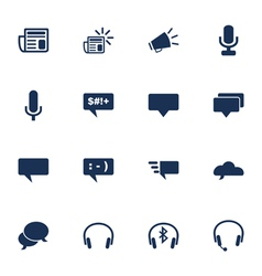 Communcation icons vector