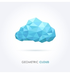 Cloud geometrical style vector