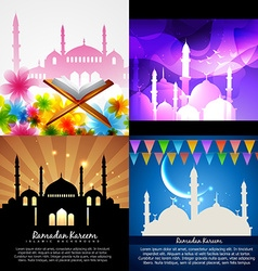 Attractive set of eid background festival of vector