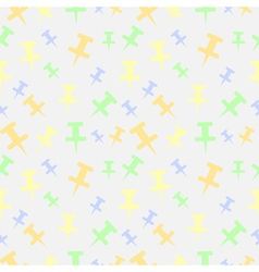 Seamless pattern with pins vector