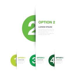Green option background vector