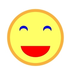 Smiling emoticon with smiling eyes 103 vector