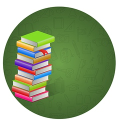 Book and circle icon background vector