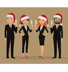 Business team congratulate you on Christmas vector image