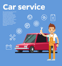 Cars tips auto mechanic with vector