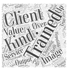 Choosing your image consultant training word cloud vector