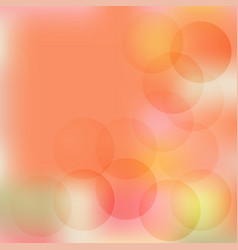 Circles on a beige background blurred vector