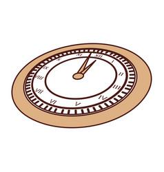 Cute brown clock cartoon vector