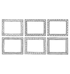 doodle frameworks vector image vector image
