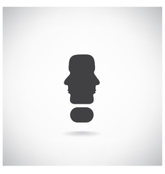 exclamation mark man head symbol vector image