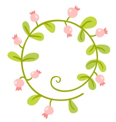 Floral Frame Cute retro flowers wreath vector image vector image