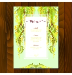 Floral menu card vector