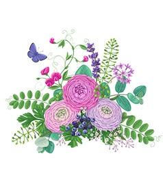 Flowers Bunch vector image
