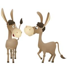 Funny cartoon donkey vector