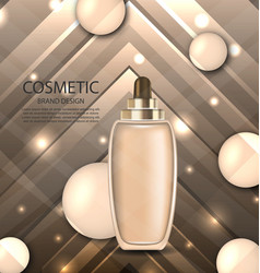 glossy cosmetic bottle with foundation vector image vector image