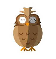 happy cute owl icon imag vector image vector image