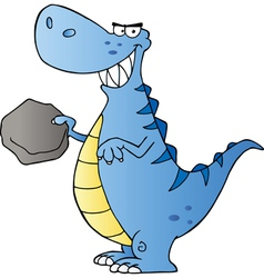 Happy Dinosaur Cartoon Character vector image