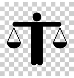 Judge person icon vector