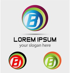 Letter b logo element vector