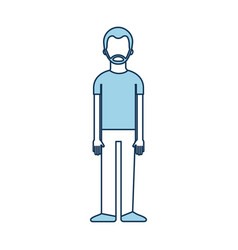 male avatar cartoon standing character man vector image