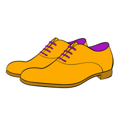 men shoes icon cartoon vector image vector image