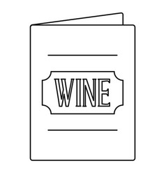 Menu wine list icon outline style vector
