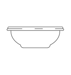 monochrome silhouette of bowl for water or vector image