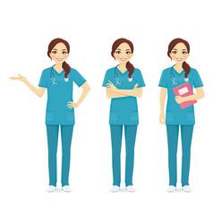 Nurse set vector