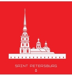 Peter and paul cathedral - saint petersburg vector