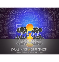 Teamwork Brainstorming communication concept art vector image vector image