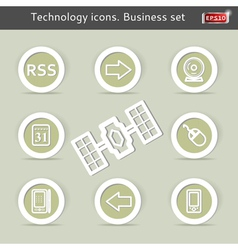 Technology icons Business set vector image