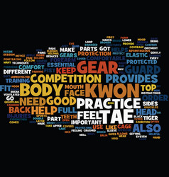 The most common tae kwon do gear text background vector