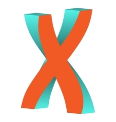 Twisted Letter X Logo Icon Design Template Element vector image