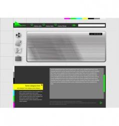 Web personal video weblog vector