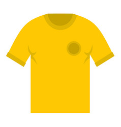 yellow soccer shirt icon isolated vector image