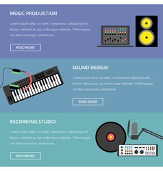 Music production template vector