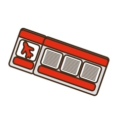 Cartoon red ticket airplane travel vector