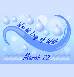 world day of water march 22 billboard or banner vector image