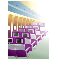 Plane seats rows vector