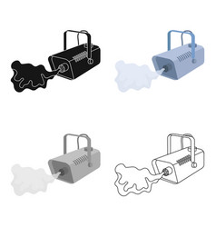 Fog machine icon in cartoon style isolated on vector