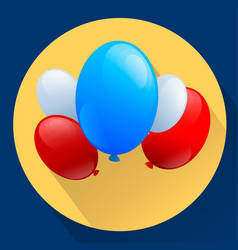 United states of america patriotic balloons vector