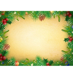 Vintage Christmas and New Year Frame vector image