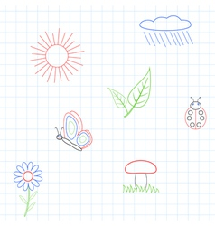 Seamless the graphics in notebook vector