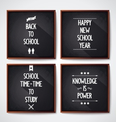 School blackboard lettering vector