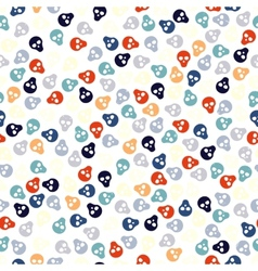 Seamless pattern with colorful skulls vector image