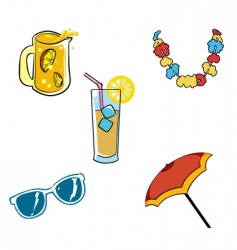 vacation vectors set vector image