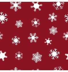 White snowflakes for christmas vector