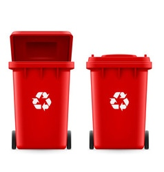 Buckets for trash vector