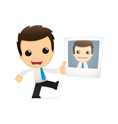 funny cartoon office worker vector image